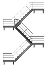 Drawing Of The Fire Escape For...