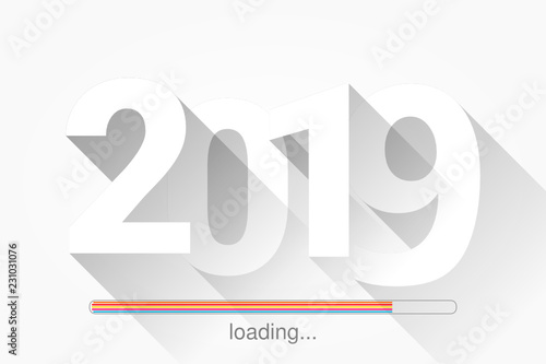 Photo  2019 - bonne année - happy new year - chargement - loading