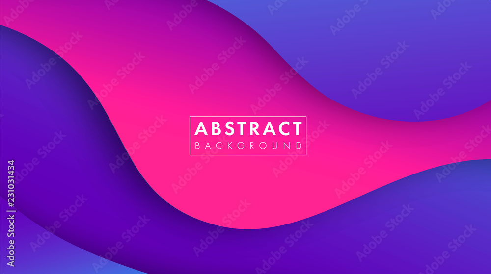 Fototapety, obrazy: Colorful abstract geometric background.Trend gradient. Fluid shapes composition. Eps10 vector.