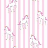 Fototapeta Dinusie - cute unicorn vector pattern