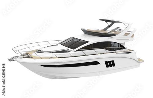Fotografia White Pleasure Yacht Isolated