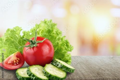 Fotografie, Obraz  Fresh vegetables isolated on white