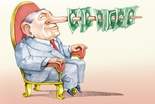 The Price Of A False Candidate Allegory Of Corruption Political Cartoon