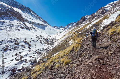 views on the way to Toubkal, Morocco