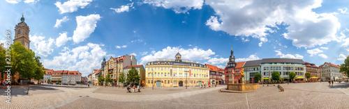 Keuken foto achterwand Europa Eisenach, Marktplatz, Panorama mit Georgenkirche