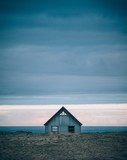 Abandoned house against stormy cloud - 231046650