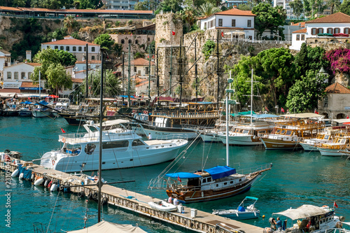 Canvas Prints Ship View of the old town of Kaleici in Antalya .Turkey.