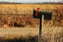 Old Rusted Rural Mailbox