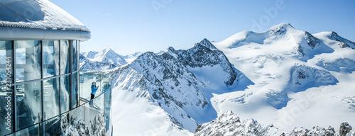 Obraz na płótnie Cafe 3440 on the Pitztal Glacier