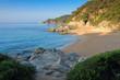 Mediterranean sea beach in Lloret de Mar