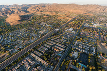 Aerial View Of Simi Valley, Ro...