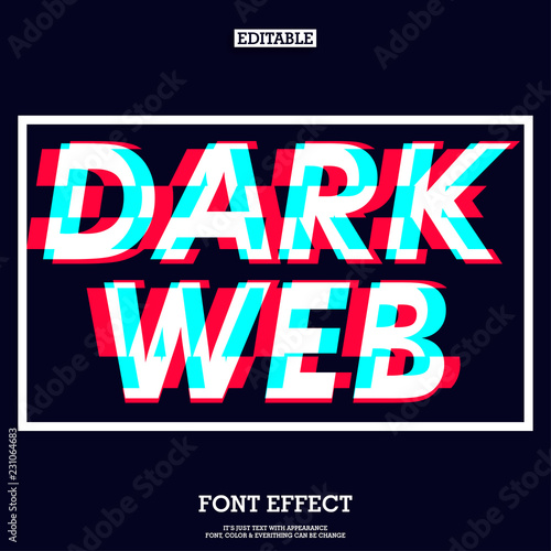 dark web font effect with futuristic glitch sign - Buy this