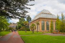 The Victorian Palm House At The Royal Botanic Gardens, A Public Park In Edinburgh, Scotland, UK.