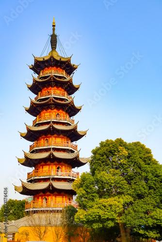 Foto op Aluminium Artistiek mon. Longhua Pagoda