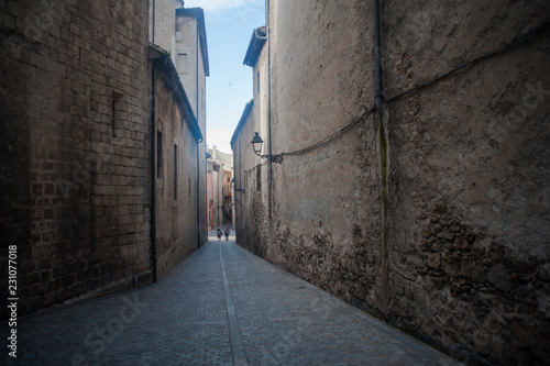 Staande foto Smal steegje Ruelle de Gérone en Catalogne