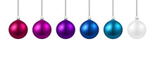 Festive Banner With Colorful Christmas Balls.