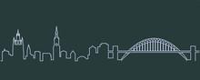 Newcastle Single Line Skyline