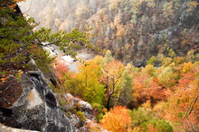 Tallulah Gorge At Tallulah Falls Georgia USA Autumn Season