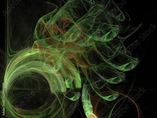 digital abstract fractal, creative design, magic