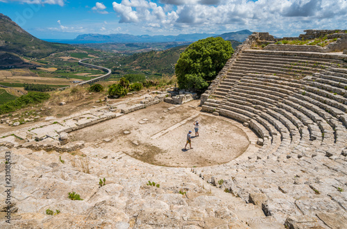 Fotografie, Obraz  The theater in Segesta, ancient greek town in Sicily, southern Italy