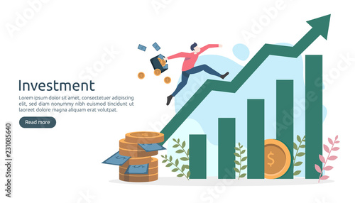 Fotografía  Business investment concept