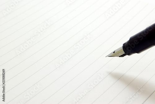 Fotografía 万年筆でノートに書く