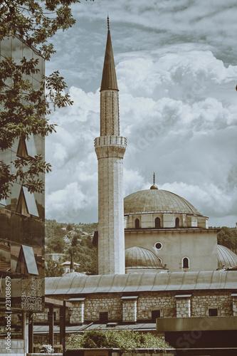 Fotografia  Mosque In Sarajevo, Bosnia And Herzegovina