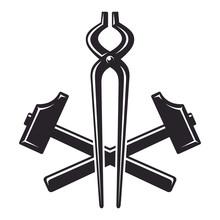 Vintage Crossed Hammers And Pl...