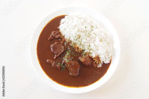 Obraz ビーフカレーライス beef curry - fototapety do salonu