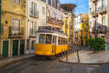 Tram On Line 28 In Lisbon, Por...