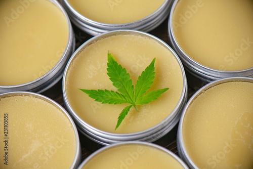 Fotografie, Obraz  Cannabis hemp cream or salve - marijuana topicals concept