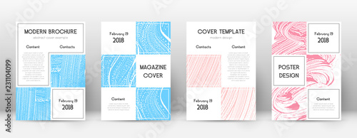 Cover page design template. Business brochure layo Wallpaper Mural