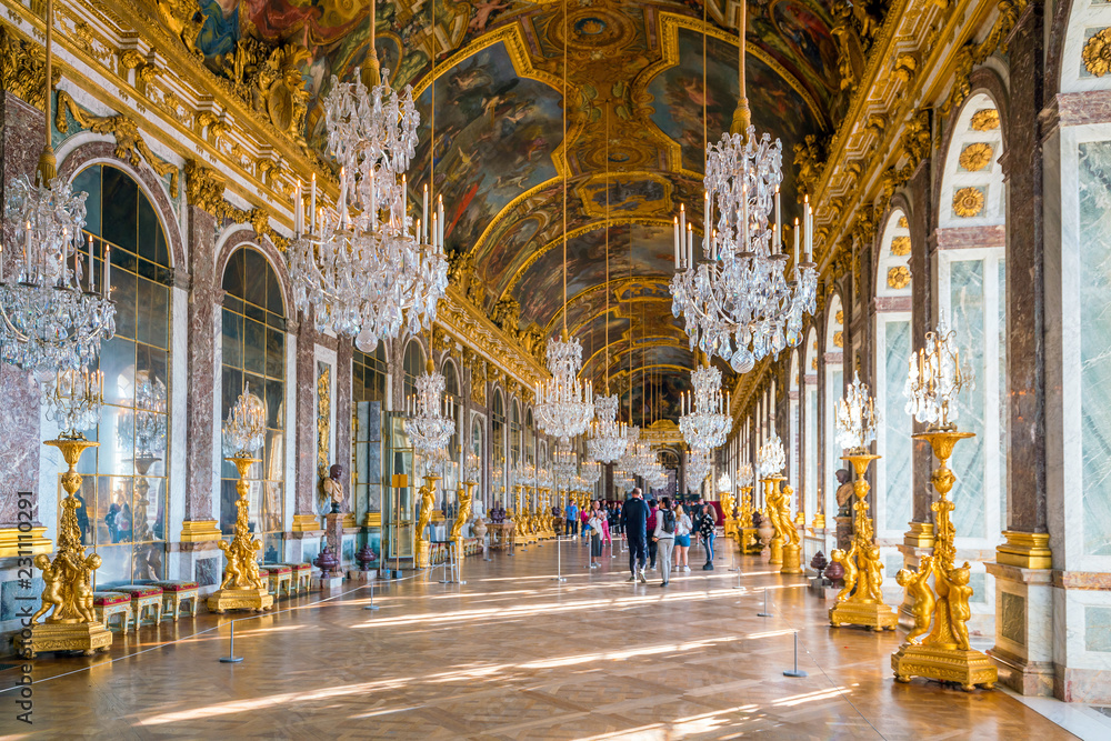 Fototapety, obrazy: The hall of mirrors in Palace of Versailles