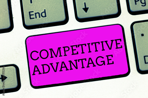 Fotografía  Word writing text Competitive Advantage