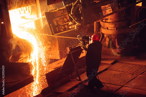 Fotografia Plant for the production of steel