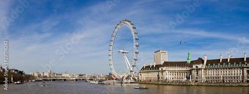 Stampa su Tela London eye ferris wheel in London