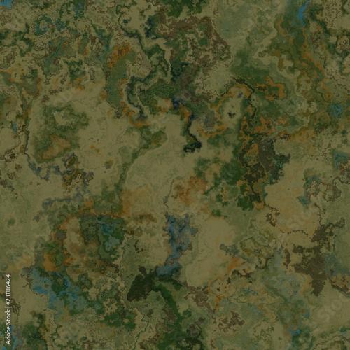Fantasy planet terrain seamless texture or background illustration Fototapeta