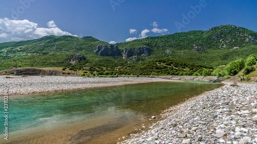 Staande foto Rivier Mountain river in Central Greece