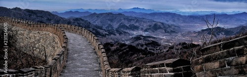 Fotobehang Chinese Muur Great Wall Valley