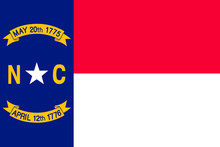 North Carolina Vector Flag. Ve...