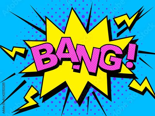 Comics Bang Comic Vector cartoon illustration explosions