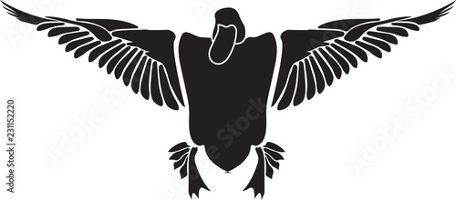 Monochrome simple isolated duck silhouette Fototapeta
