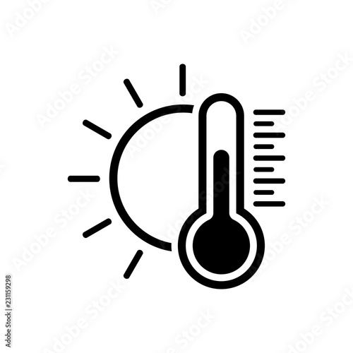 Fotografie, Obraz Temperature icon. Good sunny weather symbol