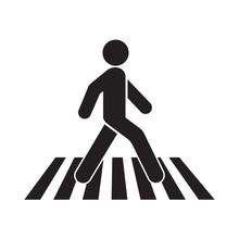 Human Walk Crosswalk Icon