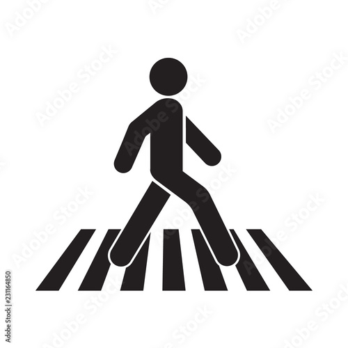 Canvas human walk crosswalk icon
