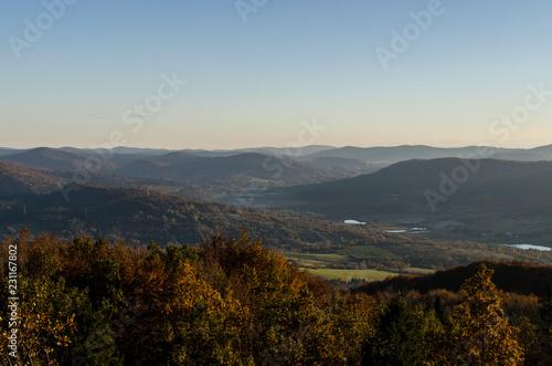 Foto op Canvas Heuvel panorama Beskidu Niskiego