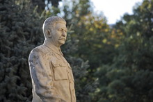 Monument To The Soviet Leader Josef Stalin In His Hometown Gori In Georgia