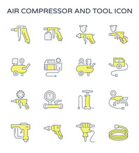Air Compressor Icon. Consist O...