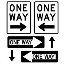 Signage-One Way Signs, Black A...