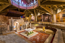 Interior Of Church Of The Annunciation Or The Basilica Of The Annunciation In The City Of Nazareth In Galilee Northern Israel.